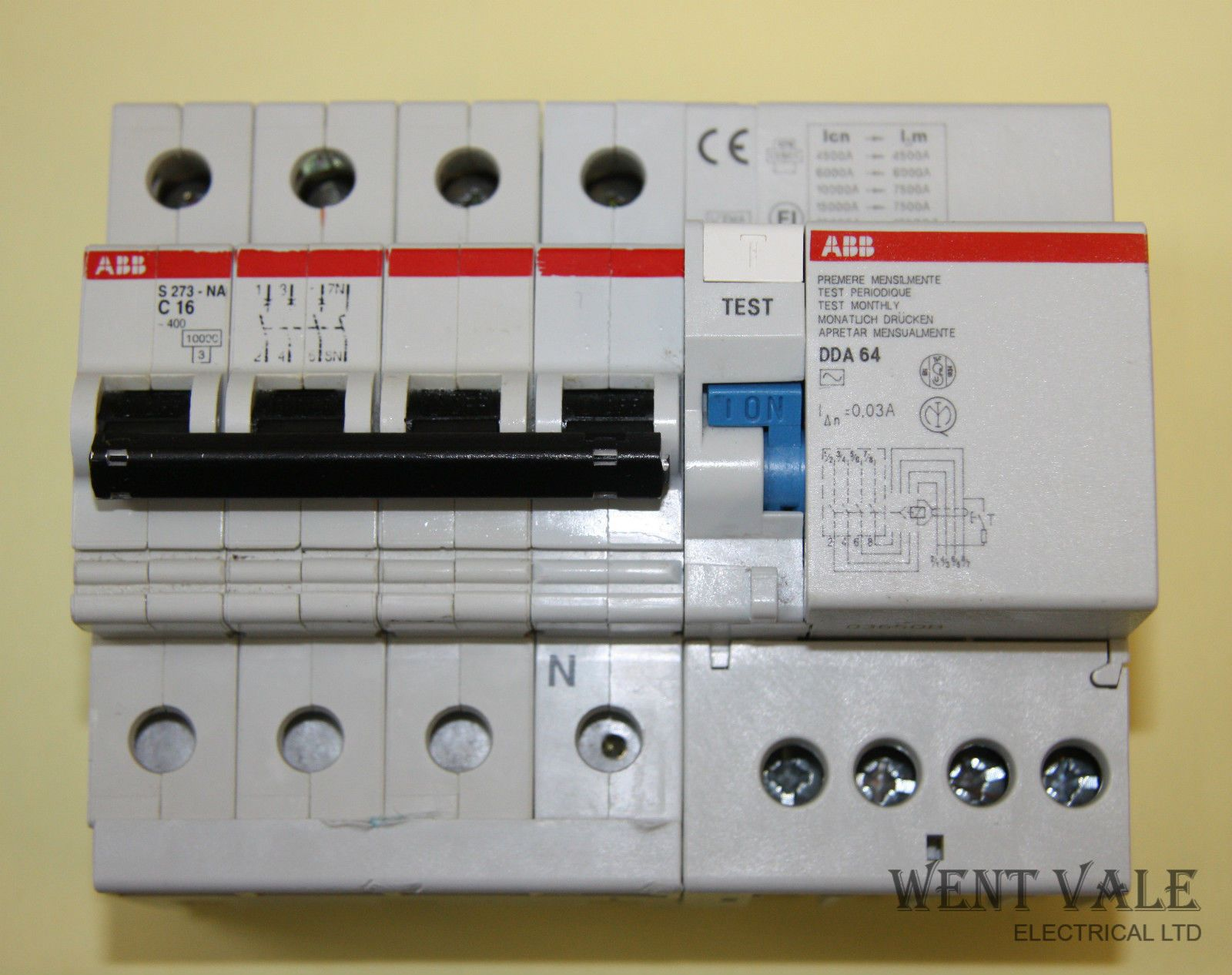 Telephone Wiring Block For Sale Manual Guide Diagram Abb S273 Na Dda 64 16a Type C 4 Pole Mcb 30ma 40a Four Rcd Used Wire 66 Punch Down