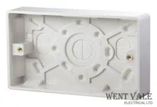 Click MODE CMA082 - 35mm Deep Moulded Surface Twin Socket Box New