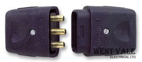 Duraplug LCP103 BLK - 10a (2400w) 3 Pin Lead Connector Plug & Socket New
