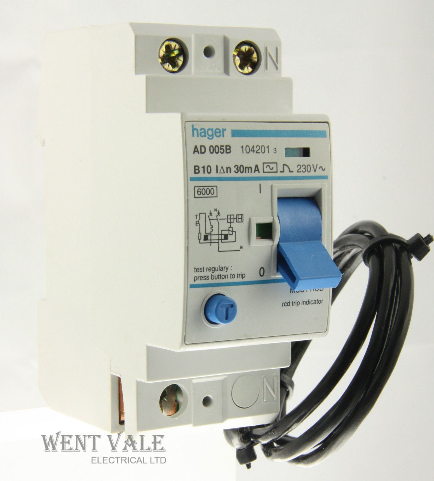 Mk Wiring Devices Diagrams Hager Ad005b 10a 30ma Type B Double Pole Mcb Rcd Un Used Egypt