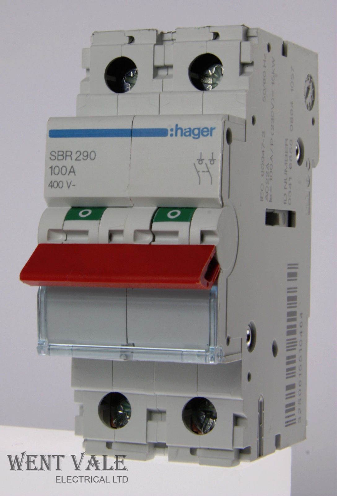 Hager - SBR290 - 100a Double Pole Switch Disconnector Used