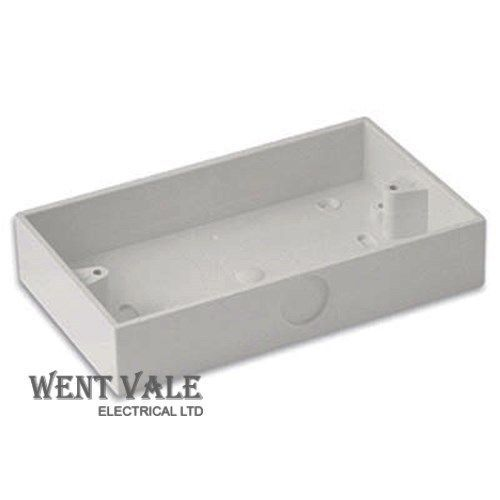 MK Egatube - ESU262 WHI 2g 25mm Deep Surface Square Corner Box With Round Knock-out New