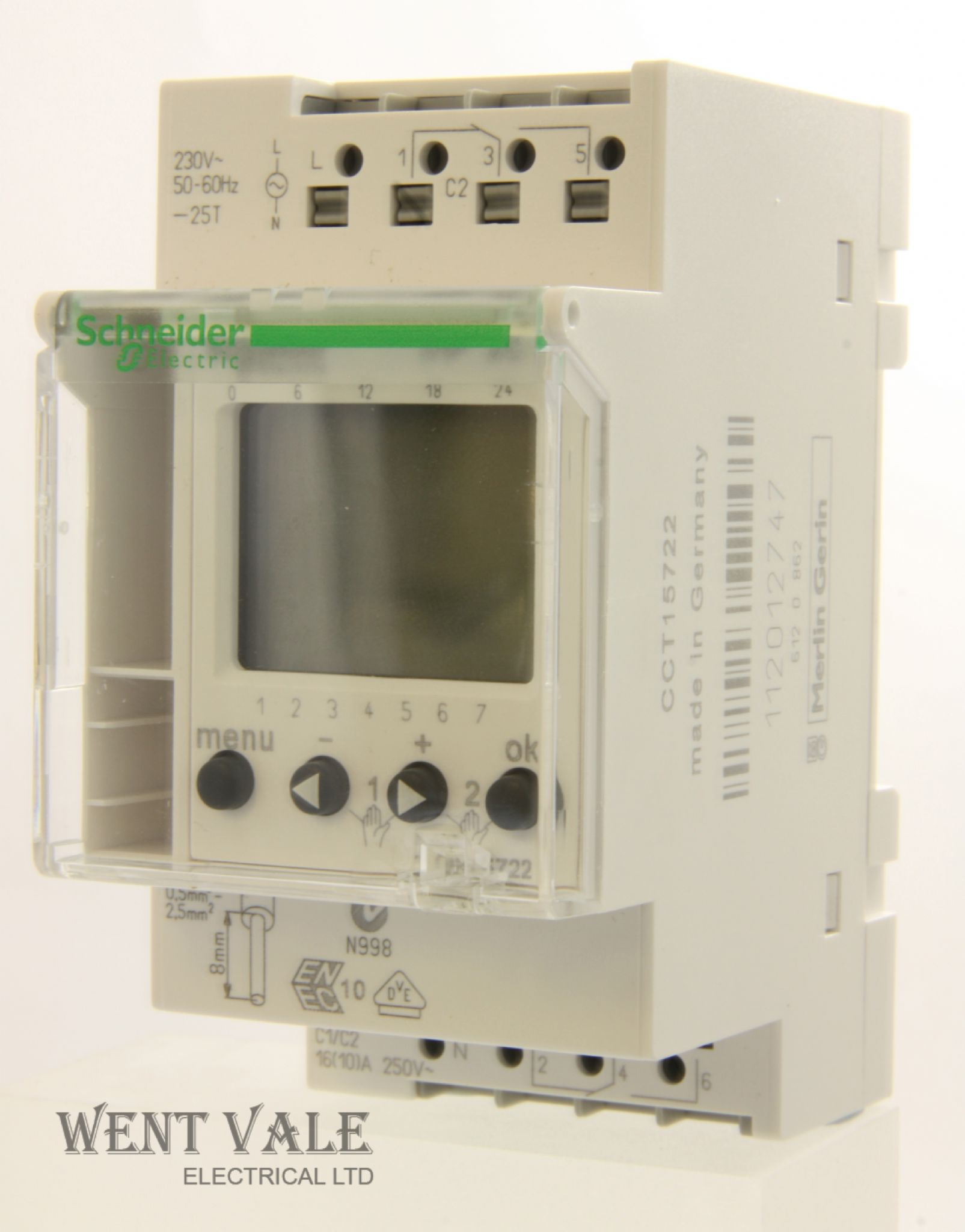 Schneider Multi 9 - CCT15722 IHP - 2 Channel 24 Hour 7 Day 16a Time Switch