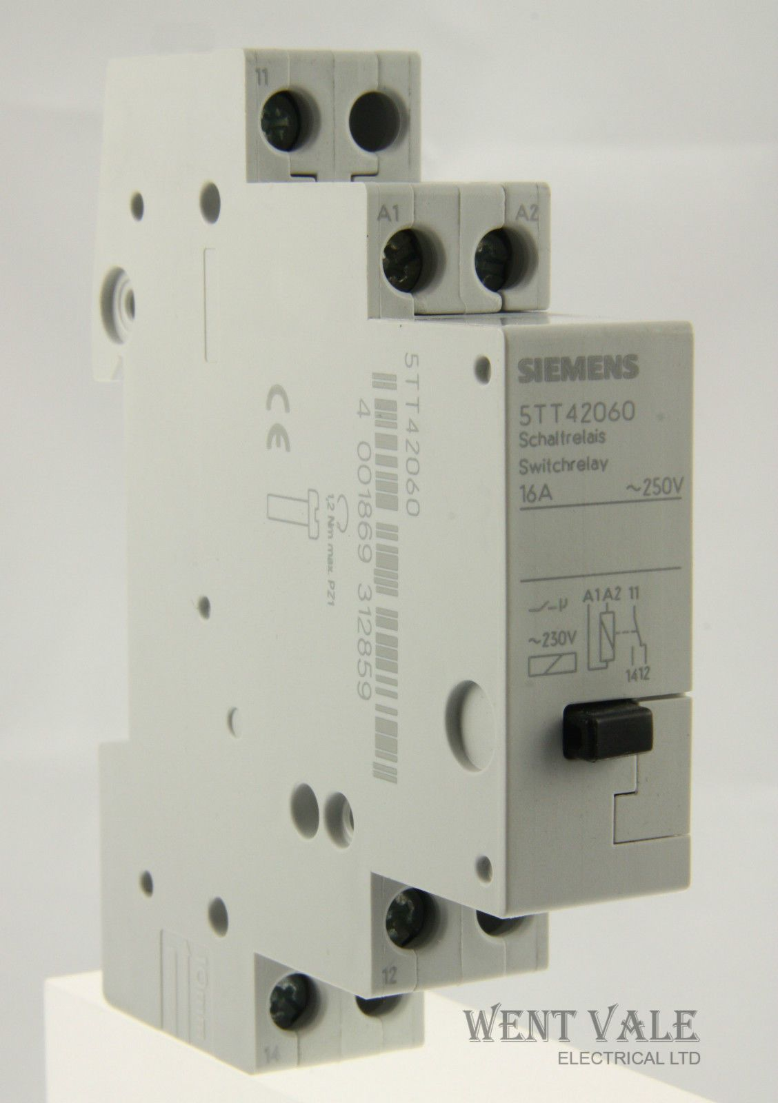 Siemens 5TT42060 - 16a SPDT DIN Rail Panel Mount Non-Latching Relay ...