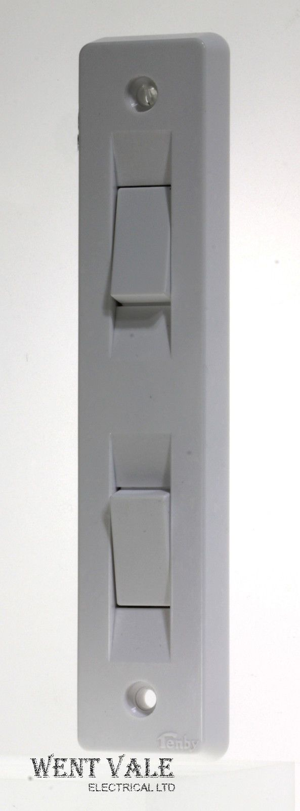 Tenby Glacier Standard - 7003 - 10ax 2 Gang 2 Way Architrave Switch Unused