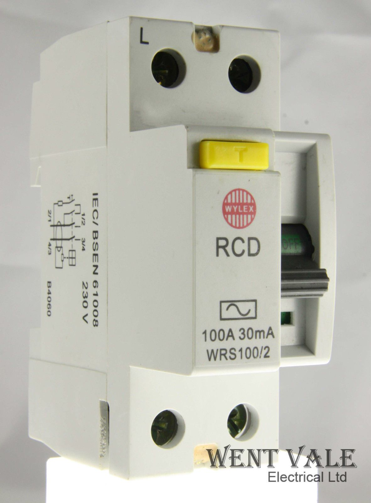 Wylex Lifeline Wrs100 2 100a 30ma Double Pole Rcd Used